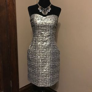 H&M Gold Holiday Dress size 6